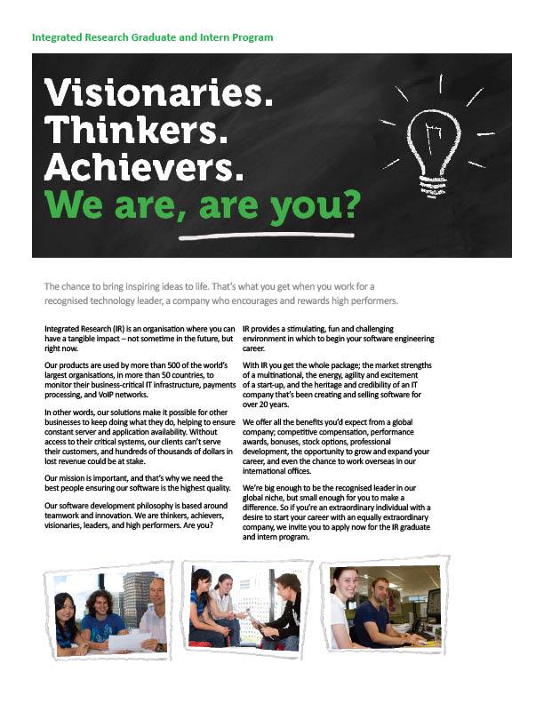 Graduates Program Brochure