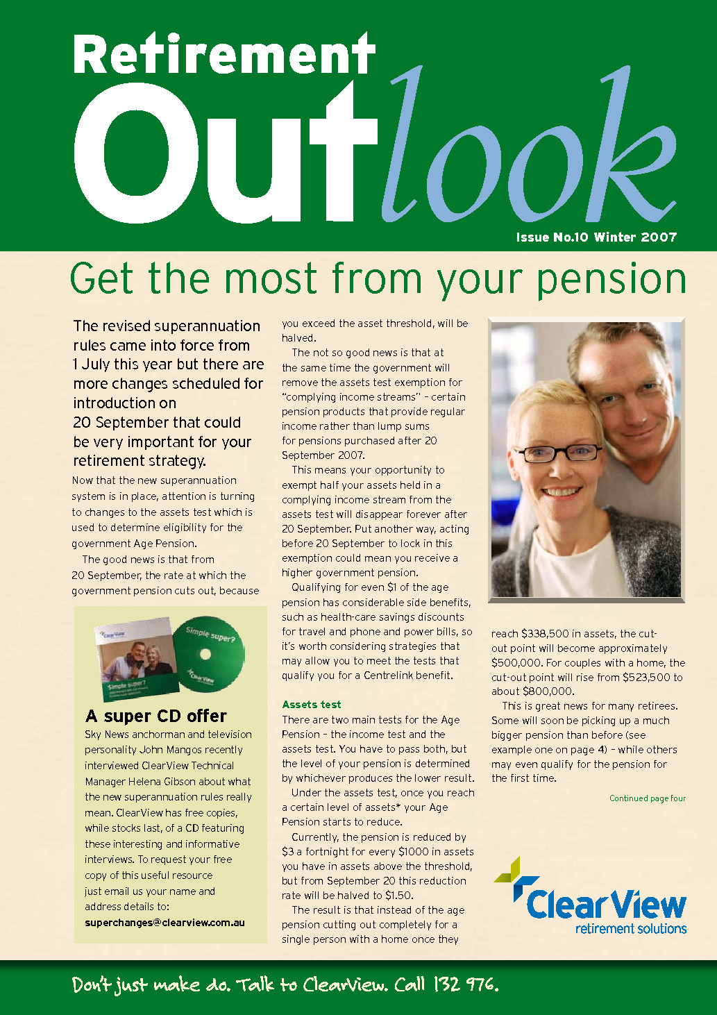 Retirement Outlook Magazine for MBF Members