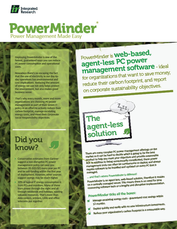 PowerMinder Flyer